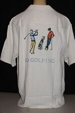 "BOBBY CHAN ""Go Golfing"" Embroidery Short Sleeve 100% SILK Shirt NEW!"