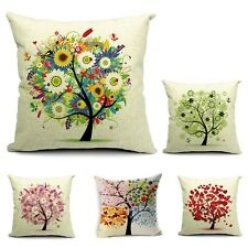 New Signature Cotton Tree Pillow Cover Vintage Pillowslip Home Car Pillowslip