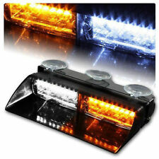 S2 Viper 16LED 18 Flashing Mode Warning Strobe Light Flash Windshield Deck Brigh