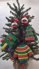 Trimmings ETC Ugly Knit Sweater Hat Glove Holiday Christmas Tree Ornament Party