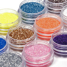 18 Colors Nail Art Glitter Powder Dust For UV Gel Acrylic Decoration Set Tips