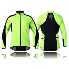 Mens Cycling Jacket Fleece Thermal Winter Long Sleeve Jersey Running Wind Coat