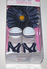 Nwt New York Yankees NY Logo Baseball MLB Gripper Socks Booties + Headband Baby