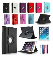 360 Degree Rotating Leather Stand Case Cover For Apple iPad Air 2 2nd Generation