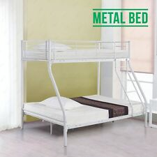Metal Bunk Bed Frame Triple Person for Adult Children 3FT Single 4FT6 Double