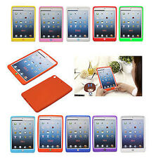 Cute Beans Soft Silicone Gel Protective Back Case Cover Skin For iPad Mini Mini2