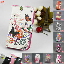 Flip Leather Wallet Case Hard Cover for Samsung Galaxy Trend Plus S7582 S7580