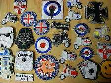 Assorted Patches. Mod, Scooter Biker Star Wars Northern Soul sew or iron patch