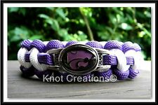 """Kansas State Wildcats Paracord Bracelet Officially Licensed NCAA Charm 7"""" Wrist"""