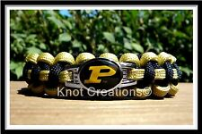 Purdue Boilermakers Paracord Bracelet Officially Licensed NCAA Collegiate Charm