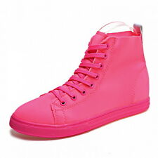 Womens High Top Trainers Boots Lace Ups Athletic Flats Sneakers Casual Shoes