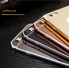 Luxury Metal Aluminum Frame Ultra-thin Mirror Back Case Cover For iPhone 6 4.7""