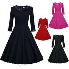 Housewife Vintage Retro Style 50s 60s Swing Party Pinup Rockabilly Evening Dress