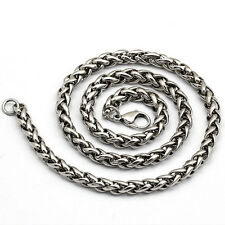 Unique Delicate MENS Silver Stainless Steel Spend orchid type Chain necklace