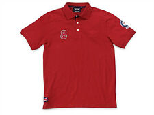 BENTLEY AUTHENTIC MEN'S RED V8 POLO SHIRT OEM # BL1181