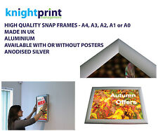 Snap Frames Picture Poster Clip Displays Retail Trappa Frame shop wall notice