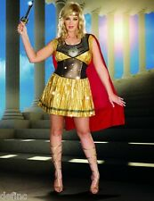 Adult Women's Sexy Golden Gladiator Warrior costume -Dreangirl 8123 all sizes