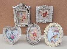 Small Vintage Photo Frame Picture Shabby Chic Antique Floral Cream Victorian