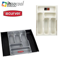 Cutlery Adjustable Tray Plastic Storage Extendable Organiser Kitchen Holder
