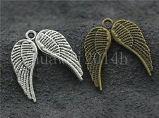 10/40/200pcs Tibetan Silver Birds Wing Jewelry Finding Charms Pendant 21x19mm