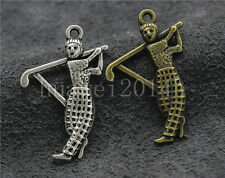 8/30/150pcs Tibetan Silver Lovely Golf Ambassador Jewelry Charms Pendant 31x21mm