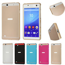 Luxury Metal Slim Bumper Frame Case   Plastic Back Cover for Sony Xperia C4