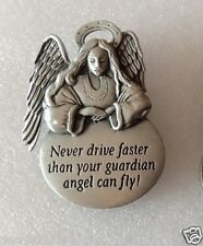 """""""JJ"""" Jewelry car Visor Clip 'Never Drive Faster than Guardian Angel can fly'"""