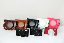 New Leather Camera Case Bag Cover Protector For Sony DSC-HX90V HX90 WX500
