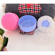 Fashion Cosmetic Tool Baby Soft Face Body Powder Puff Sponge Box Container Case