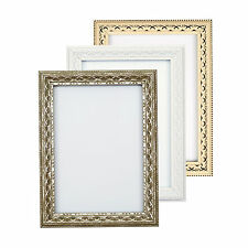 Antique Ornate classic swept Picture frame photo frame poster frame  White Gold
