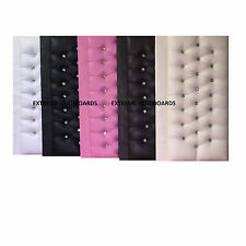 SPANISH LEATHER HEADBOARD IN 5 COLOURS + 6 SIZES + 2 DIFFERENT HEIGHTS