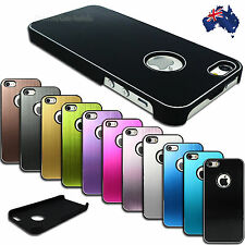 NEW Brushed Aluminium Plastic Back Cover for Apple iPhone 5 5S Hard Plastic Case