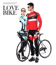 3 Styles Lover's Cycling Long Sleeve Jersey Coolmax Pant Sportswear Set Clothing
