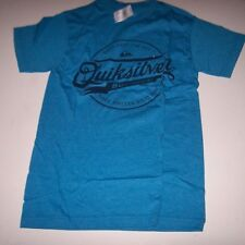 NEW Quiksilver  tee short sleeve t shirt men sz Small S heather turquoise blue