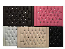 NEW LEATHER CHESTERFIELD HEADBOARD AVAILABLE IN 5 COLOURS + 7 SIZES