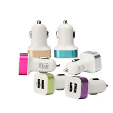 6 Color Useful Car USB Charger Universal Dual Port USB Mini Charger Adapter 2.1A