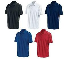 Nike Mens Anthracite Black Royal Blue Dri Fit Polyester Polo Shirt Golf Swoosh