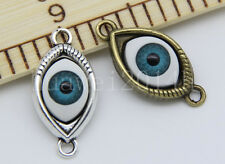Lot 3/10/50pcs Tibetan silver Delicate Evil Eye Charms Pendant Connectors 30mm