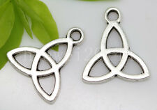 10/40/200pcs Tibetan Silver triangle basis Alloy Jewelry Charm Pendant 15x14mm