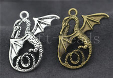 Lot 3/10/50pcs Tibetan Silver Exquisite Wings dragon Charms Pendant DIY 37x29mm