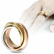mens ladies Ring silver gold rose gold Triple 5 Sizes - JEWELRY by ALLFORYOU
