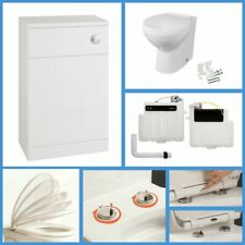 Back to Wall BTW WC Pan Toilet Concealed Cistern & Soft Close Seat