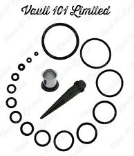 2x Black Rubber O-RINGS Spare O Rings for Tapers, Tunnels, Plugs, Stretchers