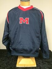 Ole Miss Rebels Team Apparel Adult Navy Pullover Wind Jacket