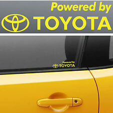 Powered by Toyota #6 Decals Stickers Graphics Land Urban FJ Cruiser 4 Runner  I