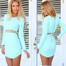Casual Long Sleeve Women Sexy Bodycon Evening Party Cocktail Mini Dress D025 New