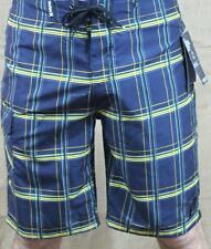 Hurley Puerto Rico Boardshorts Mens Navy Plaid Shorts Recycled Polyester New NWT
