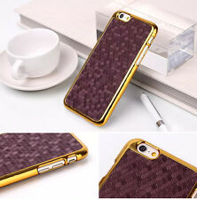 Golden Chrome Cross Rhombus Texture Hard Back Skin Case Cover 15.2-11.9cm inch