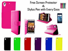 Leather Pu Wallet Soft Tpu Gel Stand Case Cover Card Holder For HTC Desire 626
