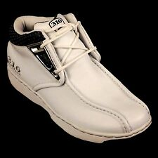 310 MOTORING  BOYS WHITE/ CHARCOAL SHOUMO SHOES LEATHER UPPER STYLE # 31804L